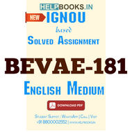 Download BEVAE181 Solved Assignment 2020-2021 (English Medium)-Environmental Studies