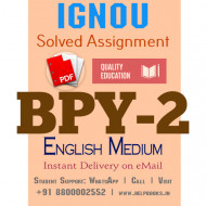 Download BPY2 IGNOU Solved Assignment 2020-2021 (English Medium)