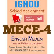 Download MECE4 IGNOU Solved Assignment 2020-2021 (English Medium)