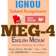 Download MEG4 IGNOU Solved Assignment 2020-2021