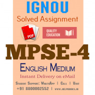 Download MPSE4 IGNOU Solved Assignment 2020-2021 (English Medium)