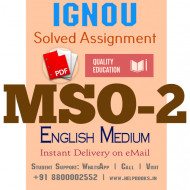 Download MSO2 IGNOU Solved Assignment 2020-2021 (English Medium)