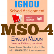 Download MSO4 IGNOU Solved Assignment 2020-2021 (English Medium)