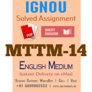 Download MTTM14 IGNOU Solved Assignment 2020-2021