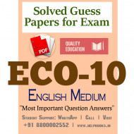 ECO10 IGNOU Solved Sample Papers/Most Important Questions Answers for Exam-English Medium