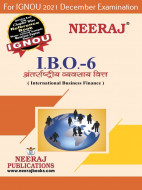 IBO6, International Business Finance (Hindi Medium), IGNOU Master of Commerce (MCOM) Neeraj Publications | Guide for IBO-6 for December 2021 Exams with Sample Papers