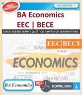 IGNOU BA Economics Solved Assignments-EEC & BECE | e-Assignment Copy | 2020-21