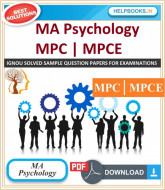 IGNOU MA Psychology Solved Assignments-MPC & MPCE | e-Assignment Copy | 2019-2020