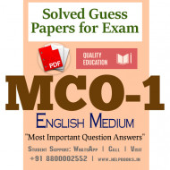 MCO1 IGNOU Solved Sample Papers/Most Important Questions Answers for Exam-English Medium