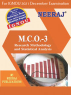 MCO3, Research Methodology and Statistical Analysis (English Medium), IGNOU Master of Commerce (MCOM) Neeraj Publications | Guide for MCO-3 for December 2021 Exams with Sample Papers