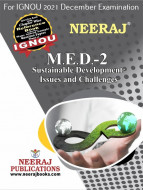 MED2, Sustainable Development: Issues and Challenges (English Medium), IGNOU Master of Arts (Political Science) (MPS) Neeraj Publications | Guide for MED-2 for December 2021 Exams with Sample Papers