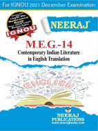 MEG14, Contemporary Indian Literature in English Translation (English Medium), IGNOU Master of Arts (English)(MEG) Neeraj Publications | Guide for MEG-14 for December 2021 Exams with Sample Papers