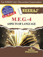 MEG4, Aspects of Language (English Medium), IGNOU Master of Arts (English)(MEG) Neeraj Publications | Guide for MEG-4 for December 2021 Exams with Sample Papers