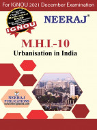 MHI10, Urbanization in India (English Medium), IGNOU Master of Arts (History)(MAH) Neeraj Publications | Guide for MHI-10 for December 2021 Exams with Sample Papers