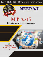 MPA17, Electronic Governance (English Medium), IGNOU Master of Arts (Public Administration) (MPA) Neeraj Publications | Guide for MPA-17 for December 2021 Exams with Sample Papers