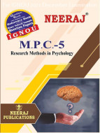 MPC5, Research Methods in Psychology (English Medium), IGNOU Master of Arts (Psychology)(MAPC) Neeraj Publications | Guide for MPC-5 for December 2021 Exams with Sample Papers