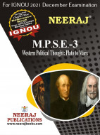 MPSE3, Western Political Thought (English Medium), IGNOU Master of Arts (Political Science) (MPS) Neeraj Publications | Guide for MPSE-3 for December 2021 Exams with Sample Papers