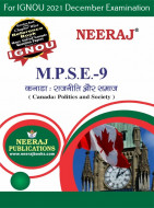 MPSE9, Canada: Politics and Society (Hindi Medium), IGNOU Master of Arts (Political Science) (MPS) Neeraj Publications | Guide for MPSE-9 for December 2021 Exams with Sample Papers