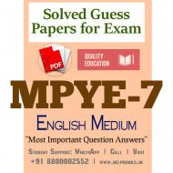MPYE7 IGNOU Solved Sample Papers/Most Important Questions Answers for Exam