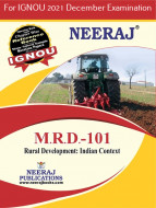 MRD101, Rural Development – Indian Context (English Medium), IGNOU Master of Arts (Rural Development) (MARD) Neeraj Publications | Guide for MRD-101 for December 2021 Exams with Sample Papers