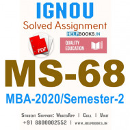 MS68-IGNOU MBA Solved Assignment 2020/Semester-II (Management of Marketing Communication and Advertising)