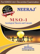 MSO1, Sociological Theories and Concepts (English Medium), IGNOU Master of Arts (Sociology)(MSO) Neeraj Publications | Guide for MSO-1 for December 2021 Exams with Sample Papers