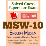 MSW10 IGNOU Solved Sample Papers/Most Important Questions Answers for Exam-English Medium