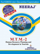 MTTM2, Human Resource Planning and Development in Tourism (English Medium), IGNOU Master of Tourism and Travel Management (MTTM) Neeraj Publications   Guide for MTTM-2 for December 2021 Exams with Sample Papers
