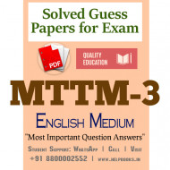 MTTM3 IGNOU Solved Sample Papers/Most Important Questions Answers for Exam