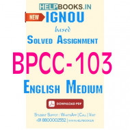 BPCC103 Solved Assignment (English Medium)-Psychology of Individual Differences BPCC-103