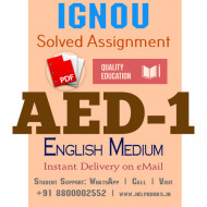 Download AED1 IGNOU Solved Assignment 2020-2021 (English Medium)
