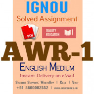Download AWR1 IGNOU Solved Assignment 2020-2021