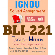 Download BLI221 IGNOU Solved Assignment 2020-2021 (English Medium)