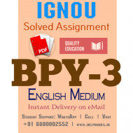 Download BPY3 IGNOU Solved Assignment 2020-2021 (English Medium)