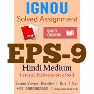 Download EPS9 IGNOU Solved Assignment 2020-2021 (Hindi Medium)