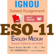 Download ESO11 IGNOU Solved Assignment 2020-2021 (English Medium)