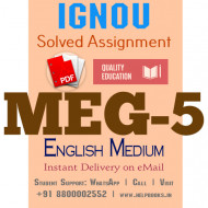 Download MEG5 IGNOU Solved Assignment 2020-2021