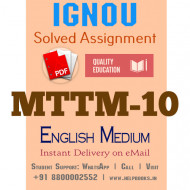 Download MTTM10 IGNOU Solved Assignment 2020-2021