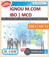 IGNOU M.COM Solved Assignments-IBO & MCO | e-Assignment Copy | 2019-2020