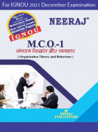 MCO1, Organization Theory and Behaviour (Hindi Medium), IGNOU Master of Commerce (MCOM) Neeraj Publications | Guide for MCO-1 for December 2021 Exams with Sample Papers