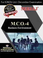 MCO4, Business Environment (English Medium), IGNOU Master of Commerce (MCOM) Neeraj Publications | Guide for MCO-4 for December 2021 Exams with Sample Papers