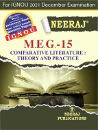 MEG15, Comparative Literature: Theory and Practice (English Medium), IGNOU Master of Arts (English)(MEG) Neeraj Publications | Guide for MEG-15 for December 2021 Exams with Sample Papers