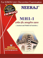 MHI1, Ancient and Medieval Societies (Hindi Medium), IGNOU Master of Arts (History)(MAH) Neeraj Publications | Guide for MHI-1 for December 2021 Exams with Sample Papers