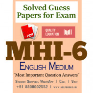 MHI6 IGNOU Solved Sample Papers/Most Important Questions Answers for Exam-English Medium