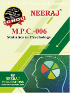 MPC6, Statistics in Psychology (English Medium), IGNOU Master of Arts (Psychology)(MAPC) Neeraj Publications | Guide for MPC-6 for December 2021 Exams with Sample Papers