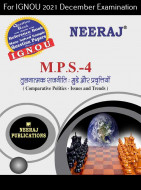 MPS4, Comparative Politics: Issues and Trends (Hindi Medium), IGNOU Master of Arts (Political Science) (MPS) Neeraj Publications | Guide for MPS-4 for December 2021 Exams with Sample Papers