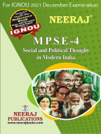 MPSE4, Social and Political Thought in Modern India (English Medium), IGNOU Master of Arts (Political Science) (MPS) Neeraj Publications | Guide for MPSE-4 for December 2021 Exams with Sample Papers