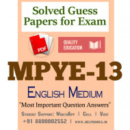 MPYE13 IGNOU Solved Sample Papers/Most Important Questions Answers for Exam