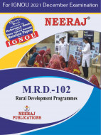 MRD102, Rural Development Programmes (English Medium), IGNOU Master of Arts (Rural Development) (MARD) Neeraj Publications | Guide for MRD-102 for December 2021 Exams with Sample Papers
