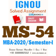 MS54-IGNOU MBA Solved Assignment 2020/Semester-I (Management Information Systems)